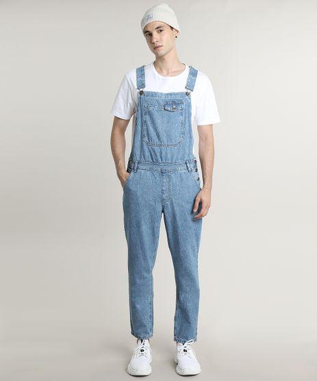 Macacao-Jeans-Masculino-Slim-com-Bolsos-Azul-Medio-9662728-Azul_Medio_1
