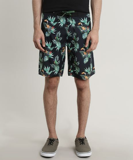 Bermuda-Surf-Masculina-Estampada-Tropical-Preta-9723362-Preto_1