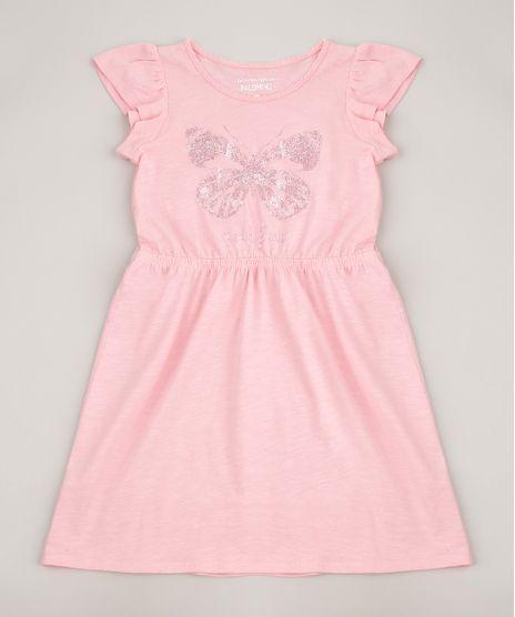Vestido-Infantil--Soul-Free--Borboleta-com-Glitter-Manga-Curta-Rosa-9619970-Rosa_1