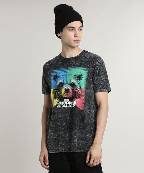 Camiseta-Masculina-Rocket-Guardioes-da-Galaxia-Marmorizada-Manga-Curta-Gola-Careca-Preta-9716574-Preto_1