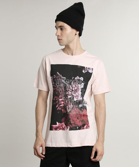 Camiseta-Masculina--Viewless--Manga-Curta-Gola-Careca-Rose-9447027-Rose_1