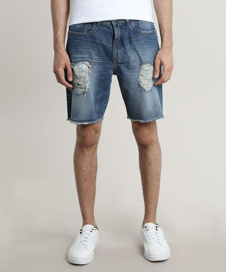 Bermuda-Jeans-Masculina-Destroyed-Barra-Desfiada-Azul-Escuro-9672829-Azul_Escuro_1