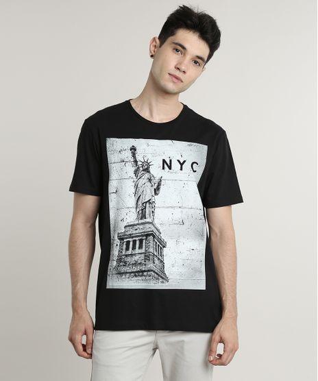 Camiseta-Masculina--NYC--Manga-Curta-Gola-Careca-Preta-9623019-Preto_1
