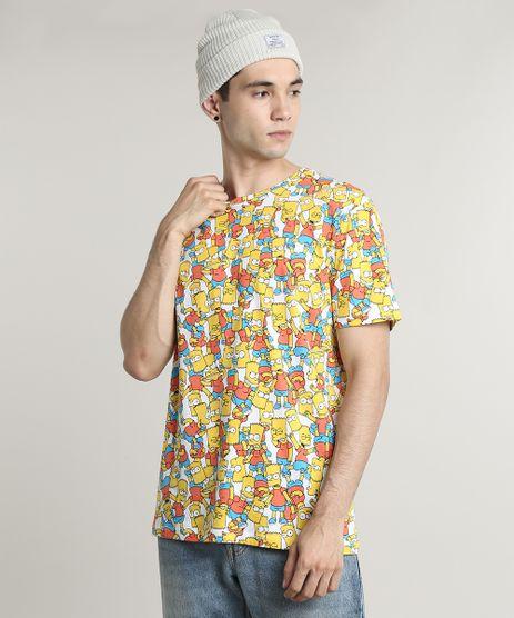 Camiseta-Masculina-Estampada-Bart-Simpson-Manga-Curta-Gola-Careca--Off-White-9607074-Off_White_1