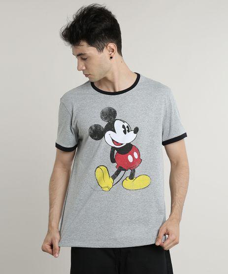 Camiseta-Masculina-Mickey-Mouse-Manga-Curta-Gola-Careca-Cinza-Mescla-9716576-Cinza_Mescla_1