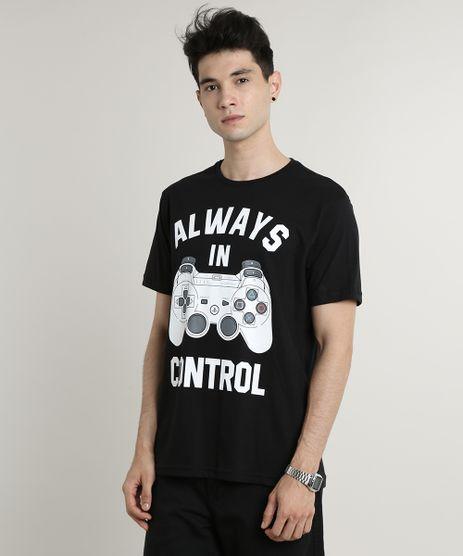 Camiseta-Masculina-PlayStation-Manga-Curta-Gola-Careca-Preta-9631015-Preto_1