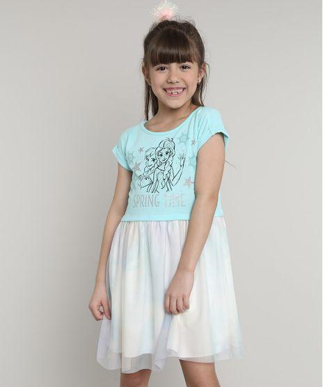 Vestido-Infantil-Frozen-com-Tule-Estampado-Manga-Curta-Azul-Claro-9675166-Azul_Claro_1