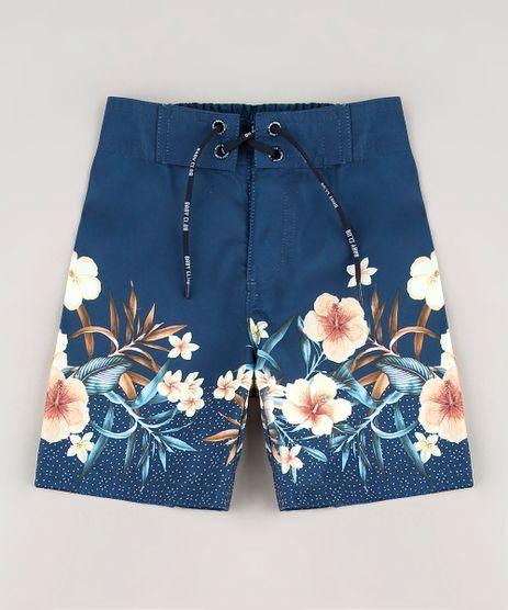 Bermuda-Surf-Infantil-Estampada-Floral-Azul-Marinho-9560225-Azul_Marinho_1