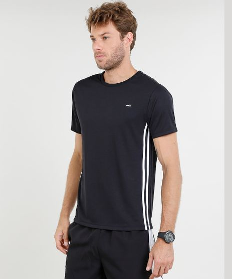 Camiseta-Masculina-Esportiva-Ace-com-Listras-Laterais-Manga-Curta-Gola-Careca-Preta-8226483-Preto_1