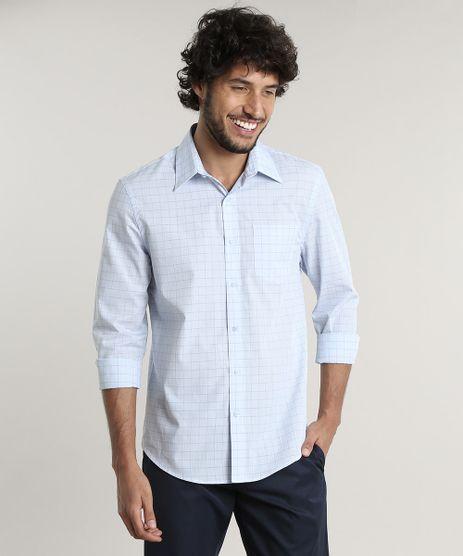 Camisa-Masculina-Comfort-Fit-Estampada-Quadriculada-Manga-Longa--Azul-Claro-1-9465655-Azul_Claro_1_1