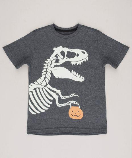 Camiseta-Infantil-Dinossauro-e-Abobora-Manga-Curta-Cinza-Mescla-Escuro-9706613-Cinza_Mescla_Escuro_1