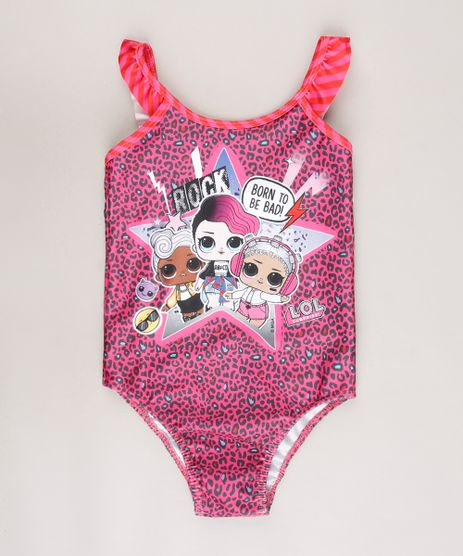 Maio-Infantil-LOL-Surprise-Estampado-Animal-Print-com-Babado-Protecao-UV50--Rosa-9668233-Rosa_1