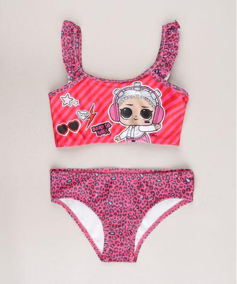 Biquini-Infantil-LOL-Surprise-Estampado-Animal-Print-com-Babado-Protecao-UV50---Rosa-9668230-Rosa_1