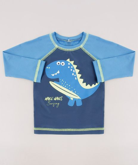 Blusa-de-Praia-Infantil-Dinossauro-Manga-Longa-Azul-9655360-Azul_1