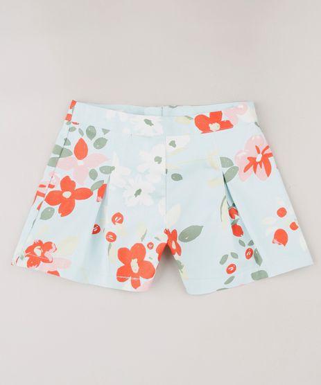 Short-Infantil-Estampado-Floral-com-Pregas-Azul-Claro-9649454-Azul_Claro_1