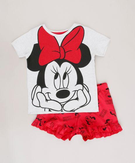 Pijama-Infantil-Minnie-Manga-Curta-Cinza-Mescla-Claro-9641230-Cinza_Mescla_Claro_1