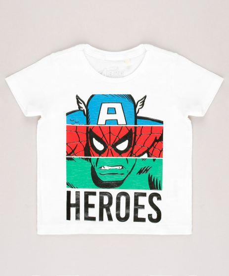 Camiseta-Infantil-Os-Vingadores--Heroes--Manga-Curta-Off-White-9722346-Off_White_1