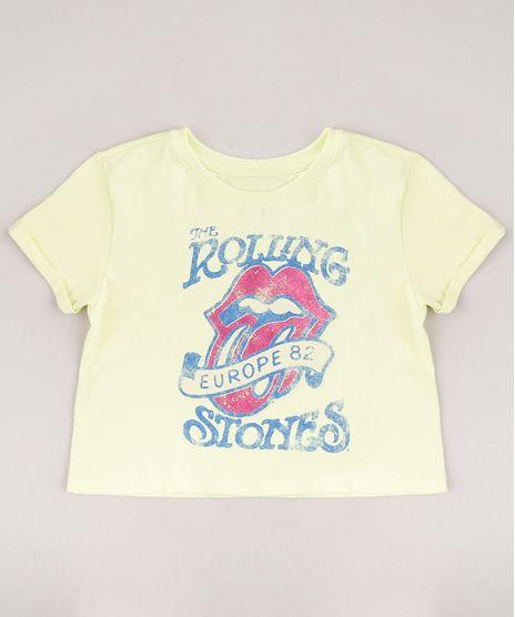 Blusa-Infantil-Cropped-Ampla-Rolling-Stones-Manga-Curta-Amarelo-Claro-9753350-Amarelo_Claro_1