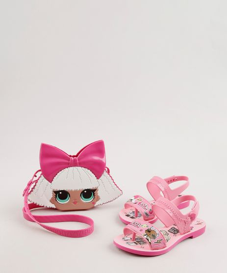 Rasteira-Infantil-Grendene-Kids-Lol-Surprise-Estampada-com-Bolsa-Rosa-9722387-Rosa_1