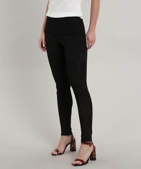 Calca-Legging-Feminina-com-Recorte-em-Suede-Preta-9705778-Preto_1