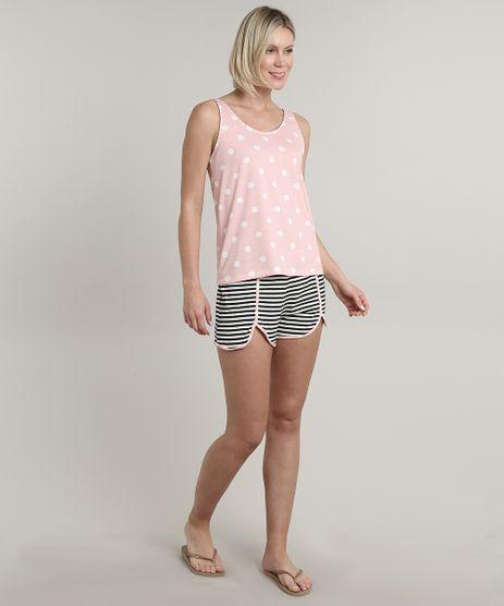 Pijama-Feminino-Estampado-de-Poa-e-Listrado-Regata-Rosa-9603806-Rosa_1