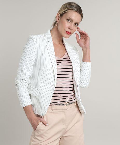 Blazer-Feminino-Basico-Listrado-com-Bolsos-e-Botao-Off-White-9658957-Off_White_1