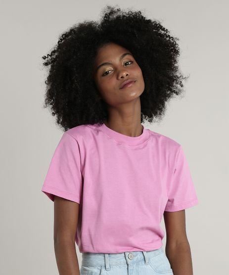 T-Shirt-Feminina-Mindset-Manga-Curta-Decote-Redondo-Rosa-9803344-Rosa_1