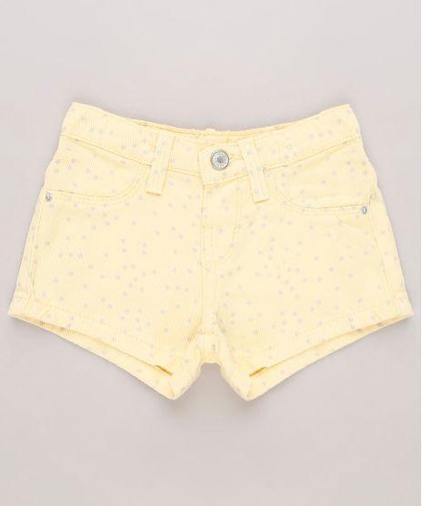 Short-de-Sarja-Infantil-Estampado-de-Estrelas-Amarelo-9727893-Amarelo_1