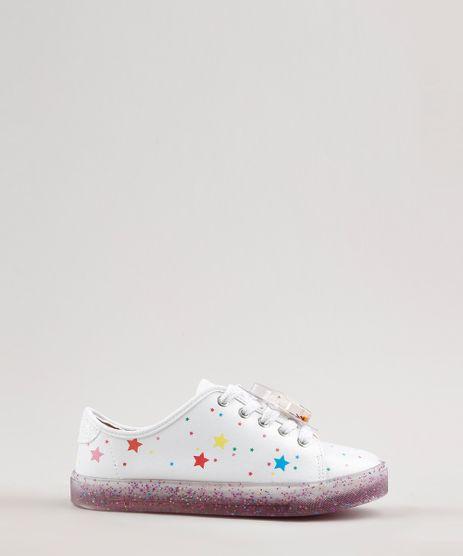 Tenis-Infantil-Molekinha-Estampado-de-Estrelas-com-Glitter-Branco-9699779-Branco_1