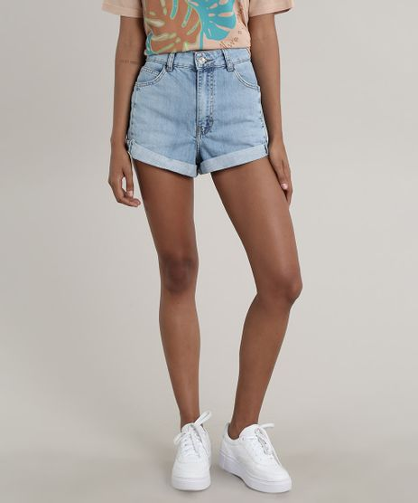 Short-Jeans-Feminino-Mom-Barra-Dobrada-Azul-Claro-9751065-Azul_Claro_1