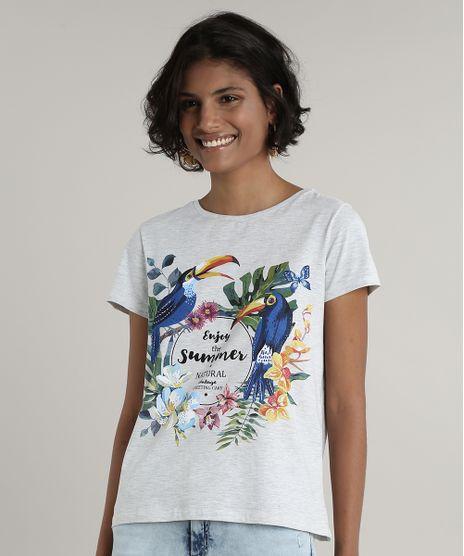 Blusa-Feminina-Tucanos--Summer--Manga-Curta-Decote-Redondo-Cinza-Mescla-Claro-9703935-Cinza_Mescla_Claro_1