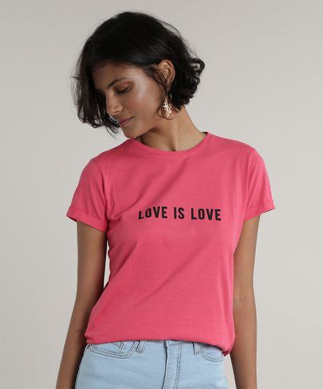 Blusa-Feminina--Love-is-Love--Manga-Curta-Decote-Redondo-Pink-9712516-Pink_1