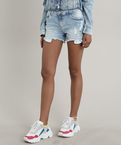 Short-Jeans-Feminino-Reto-com-Rasgos-Azul-Claro-9715303-Azul_Claro_1