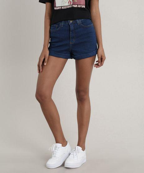 Short-Jeans-Feminino-Hot-Pant-Barra-Dobrada-Azul-Medio-9557198-Azul_Medio_1