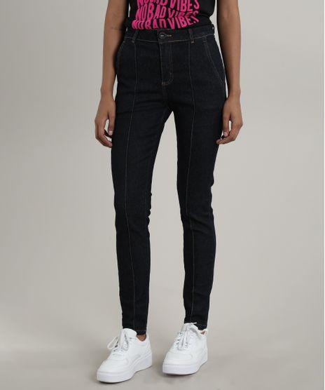 Calca-Jeans-Feminina-Cigarrete-com-Pespontos-Azul-Escuro-9748514-Azul_Escuro_1