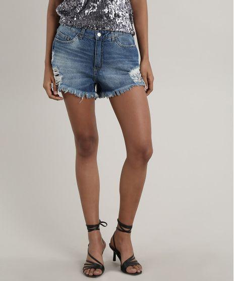 Short-Jeans-Feminino-Boyfriend-Destroyed--Azul-Medio-9753709-Azul_Medio_1