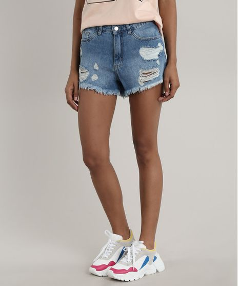 Short-Jeans-Feminino-Boyfriend-Destroyed--Azul-Medio-9753710-Azul_Medio_1