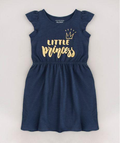 Vestido-Infantil--Little-Princess--Manga-Curta-Azul-Marinho-9619968-Azul_Marinho_1