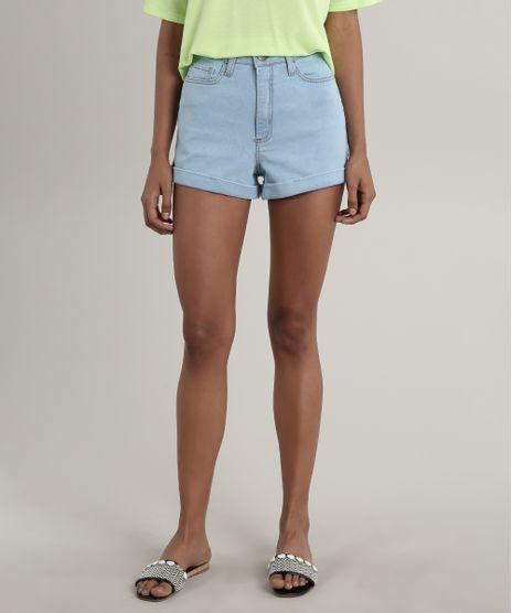 Short-Jeans-Feminino-Hot-Pant-Barra-Dobrada-Azul-Claro-9557200-Azul_Claro_1