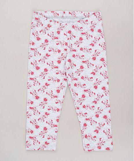 Calca-Legging-Infantil-Minnie-Estampada-Cinza-Mescla-Claro-9683533-Cinza_Mescla_Claro_1