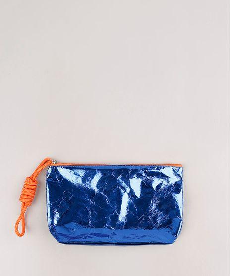 Necessaire-Feminina-Metalizada-com-Cordao-Azul-9752857-Azul_1