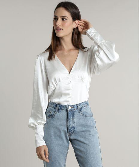 Camisa-Feminina-Mindset-Acetinada-Manga-Bufante-Decote-V-Off-White-9803340-Off_White_1
