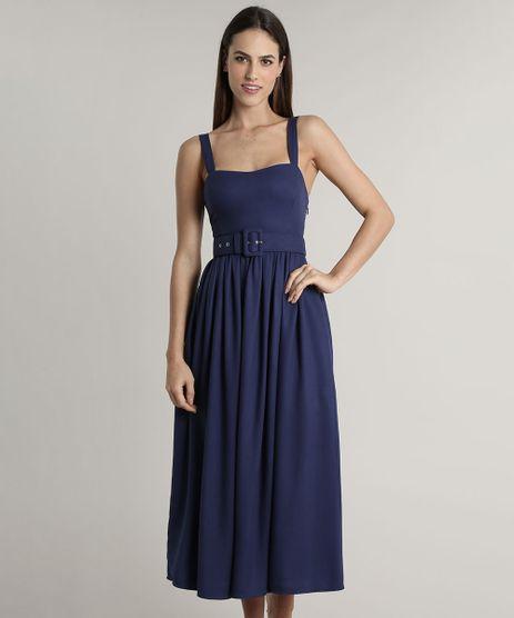 Vestido-Feminino-Mindset-Midi-com-Bolsos-e-Cinto-Alca-Media-Azul-Marinho-9805569-Azul_Marinho_1