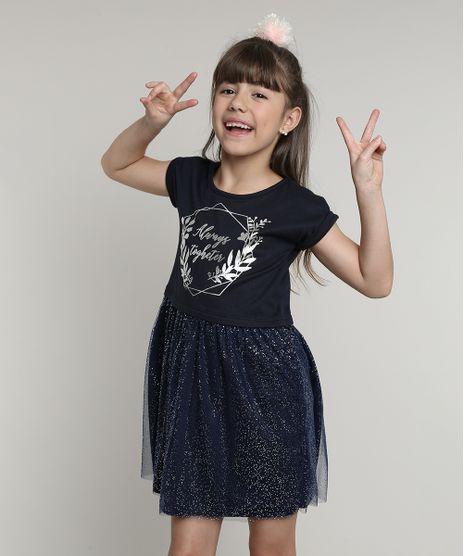 Vestido-Infantil-com-Tule-e-Brilho-Manga-Curta--Azul-Marinho-9675167-Azul_Marinho_1
