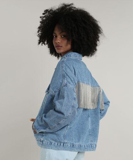 Jaqueta-Jeans-Feminina-Mindset-Oversized-com-Franjas-Metalicas-Azul-Claro-9758912-Azul_Claro_1