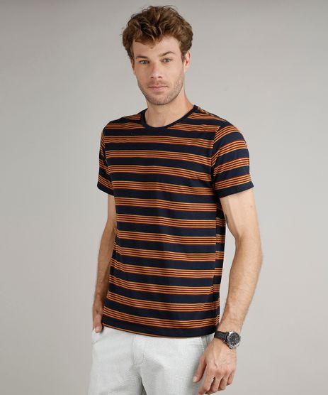 Camiseta-Masculina-Basica-Comfort-Fit-Listrada-Manga-Curta-Gola-Careca-Azul-Marinho-9448508-Azul_Marinho_1