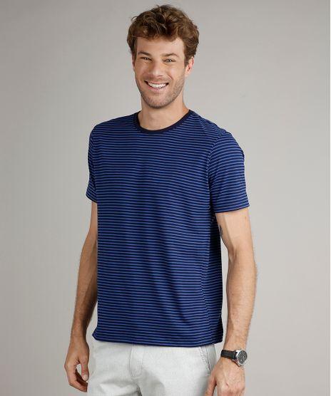 Camiseta-Masculina-Basica-Comfort-Fit-Listrada-Manga-Curta-Gola-Careca-Azul-Marinho-9650391-Azul_Marinho_1