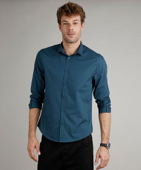 Camisa-Masculina-Slim-Fit-Basica-Manga-Longa-Azul-Petroleo-9633530-Azul_Petroleo_1