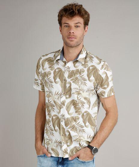 Camisa-Masculina-Comfort-Fit-Estampada-de-Folhagem-Manga-Curta-Off-White-9523413-Off_White_1