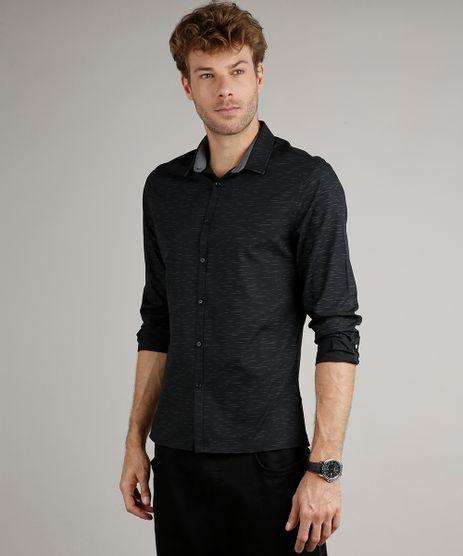 Camisa-Masculina-Slim-Fit-Estampada-Manga-Longa-Preto-9516955-Preto_1